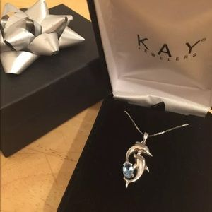 Kay jewelers dolphins necklace sterling silver